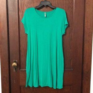 COPY - Mittoshop Kelly Green Tunic Pocket Dress